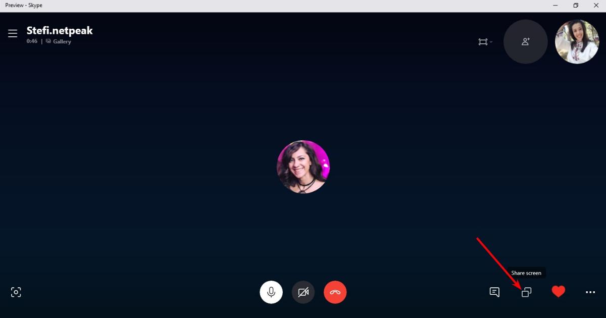 Как да споделяме екрана си в Skype