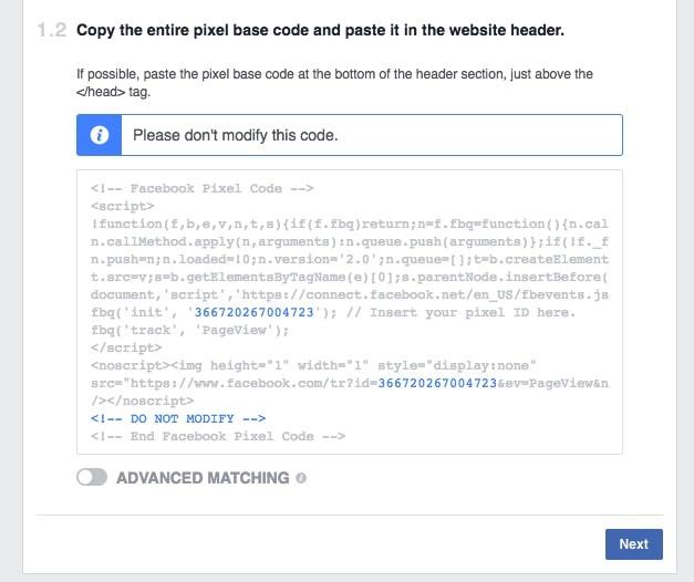 Инсталиране на FB пиксела