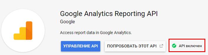 Google Analytics Reporting API