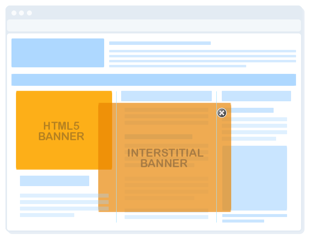 html5 banner with floating