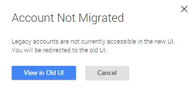 В данный момент редактирование v1 аккаунтов доступно только в старом интерфейсе