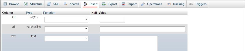 За да разберем каква SQL-заявка се използва за добавяне на мета тагове, трябва да добавим нова стойност в таблицата