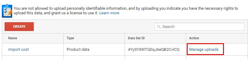 Качване на CSV-файл с данни в Google Analytics