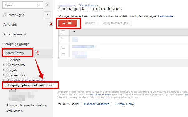 може да се избегнат показвания на конкретни сайтове, с помощта на изключваните им на ниво профил