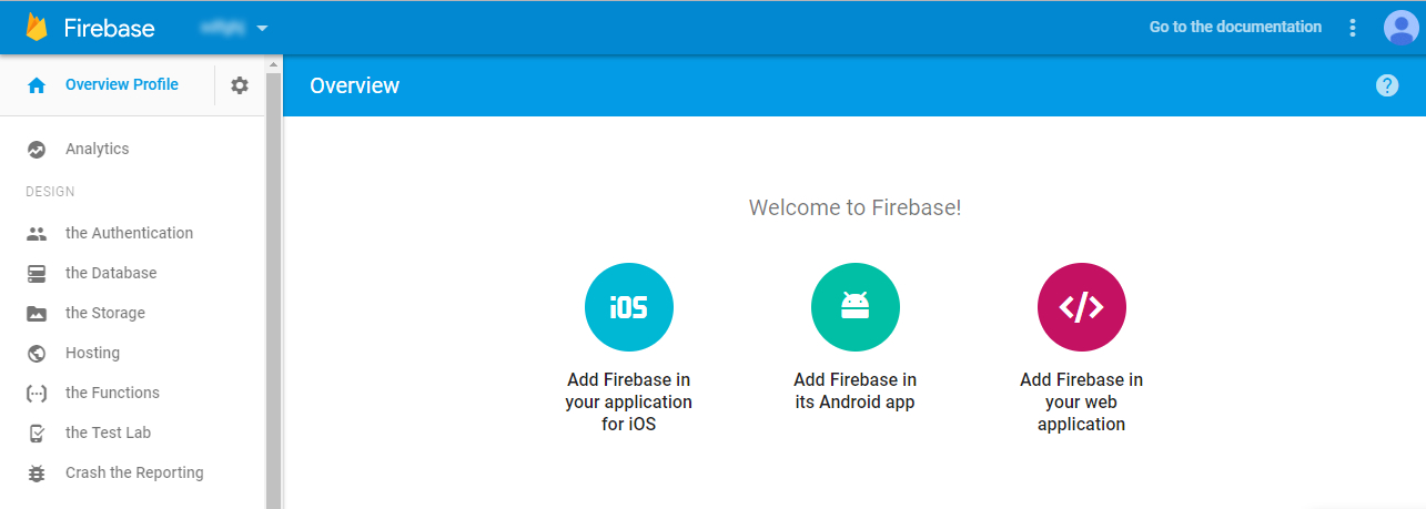 избор на операционна система на приложение в Firebase