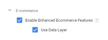 подобрената електронна търговия в Google Tag Manage