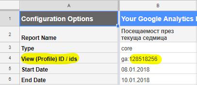 Трябва да копирате документа в Google Drive и да добавите id-то на вашия изглед на собственост