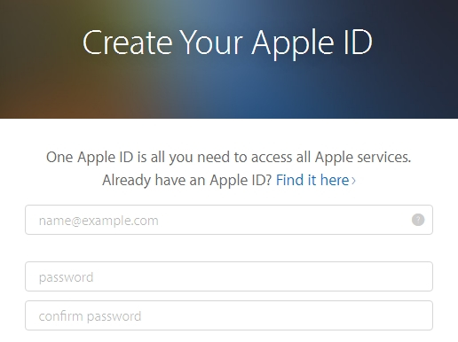 Създайте Apple ID