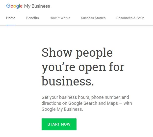 Отидете на сайта Google My Business и натиснете Start Now
