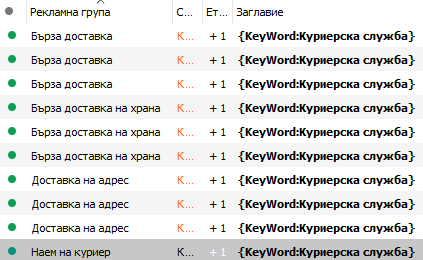 Подмяна с помощта на думи-формули