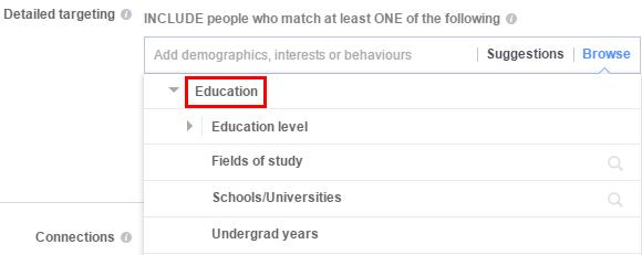 Таргетинг - ниво на образование
