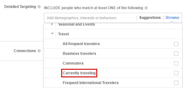 Таргетинг - тези, които пътешестват в момента