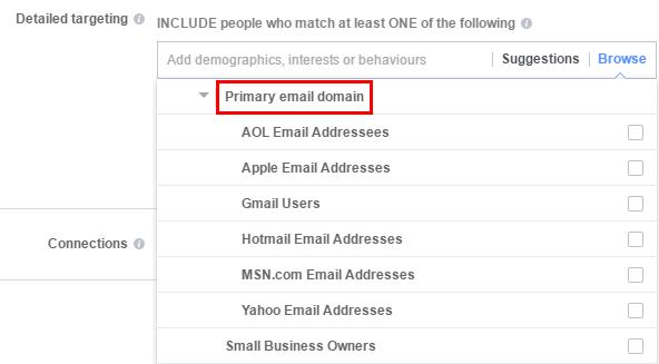 Таргетинг - домейн на основната електронна поща