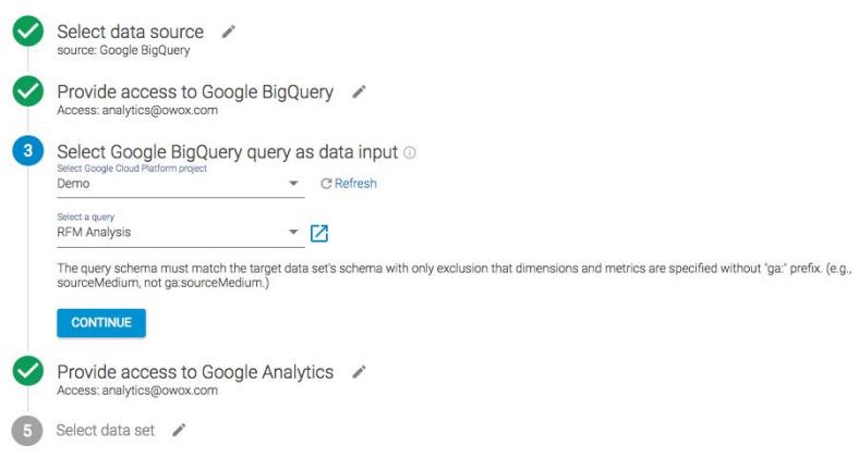 Импортировать данные в Google Analytics