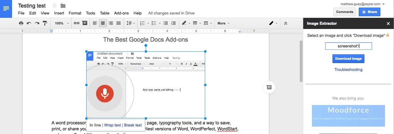 Как быстро экспортировать изображения из Google Документов