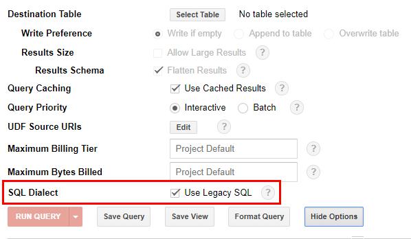 Как найти галочку «SQL Dialect» для переключения на нужный диалект