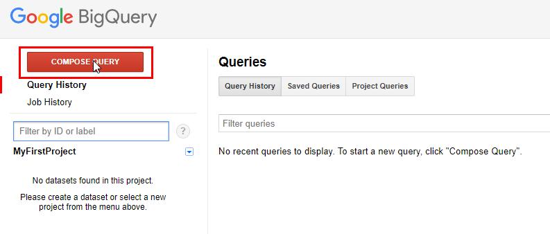 Как написать запрос в BigQuery