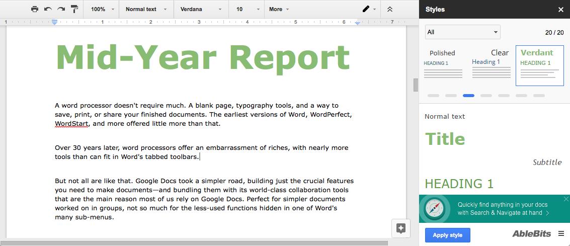 Как настроить дизайн докса дополнения для Google Документов