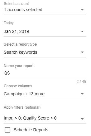 Как настроить отчет в два клика в дополнении Google Ads для Google Таблиц