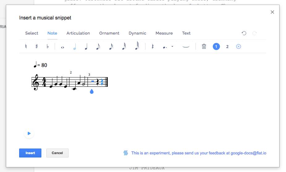 Как писать музыку в Google Документах