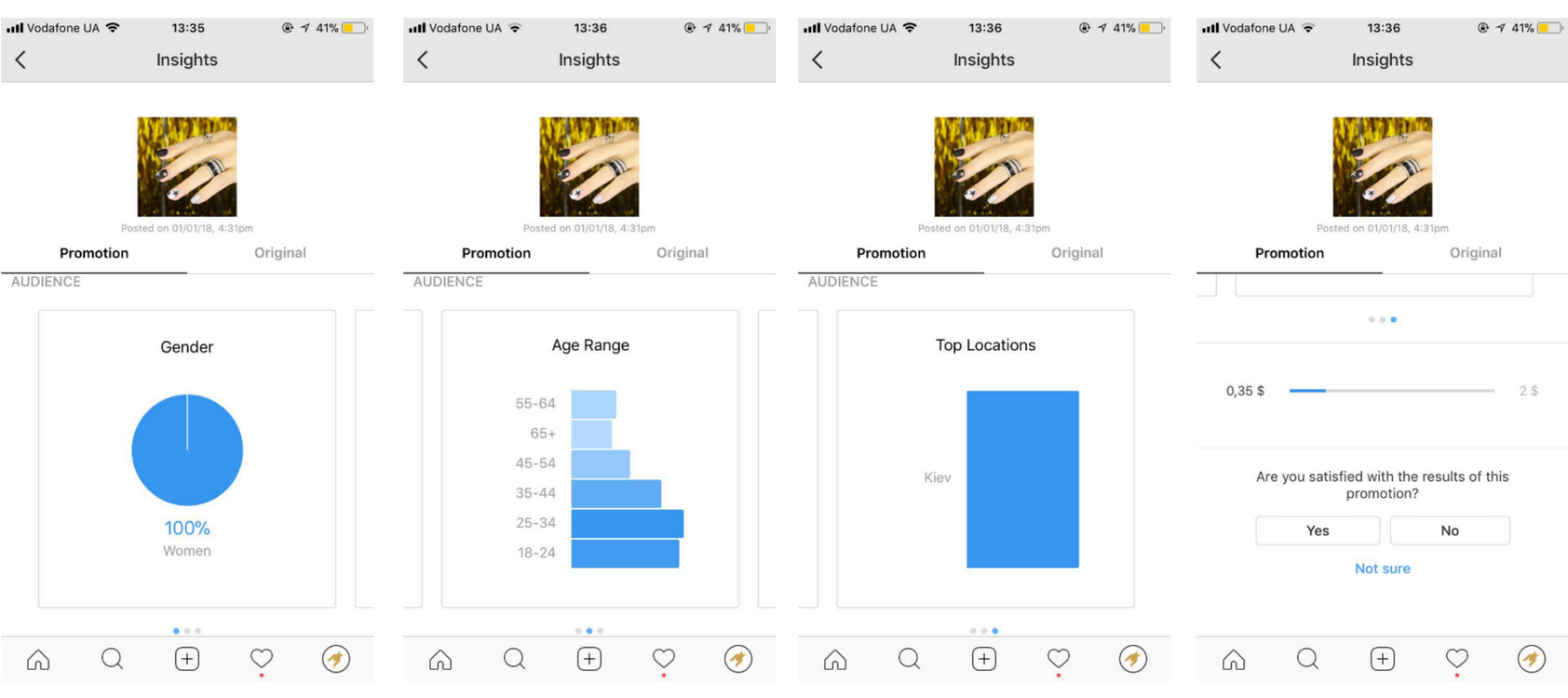 Как посмотреть статистику рекламных постов в Instagram