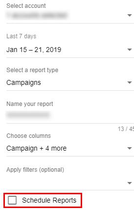 Как создать автообновление отчета в дополнении Google Ads