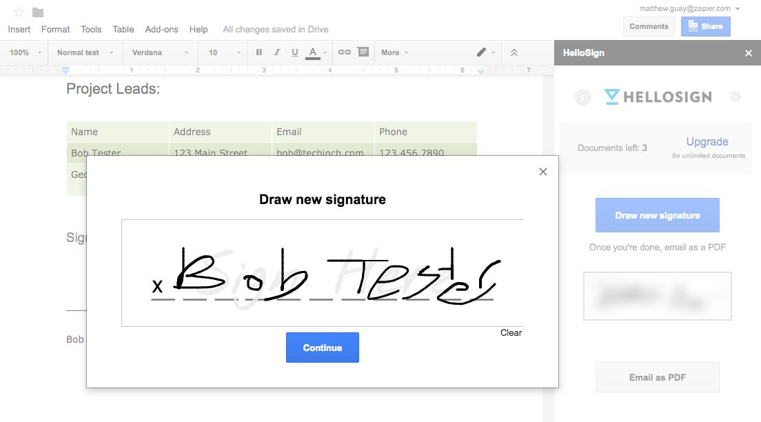 Как создать подпись в Google Документах