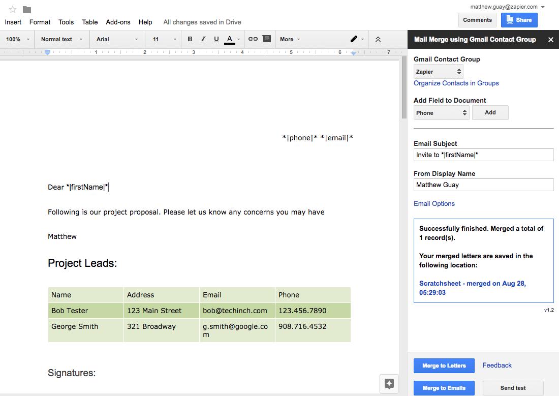 Как создать шаблоны писем в Google Документах