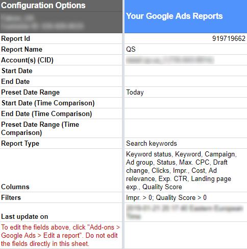 Как задать правильные настройки отчетов в дополнении Google Ads
