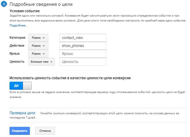количество кликов по кнопке «Показать номер»