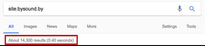 Количество страниц в индексе можно проверить с помощью оператора
