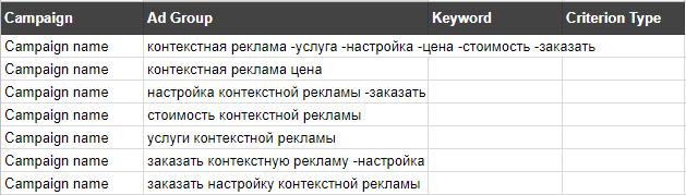 Копируем данные в таблицу