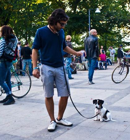 Ramzi Rizk, co-founder & CTO «EyeEm» и его собачка Рэмбо.