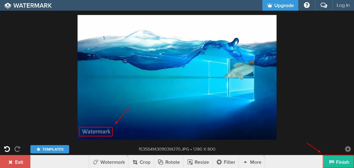 Снять водяной знак с картинки онлайн
