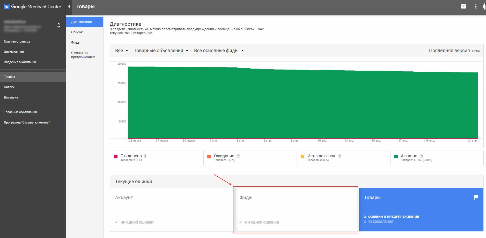 Google Shoping Украина как настроить фид