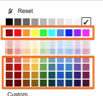 Не используйте для оформления таблицы яркие цвета