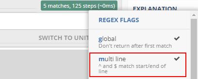 Трябва да поставим каретка срещу «multi line»