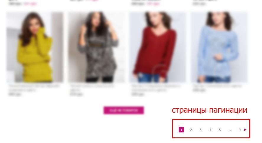 Обычно на сайтах интернет-магазинов, досок объявлений, блогах пагинация выглядит так
