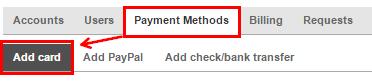 Оплата с помощью банковской карты