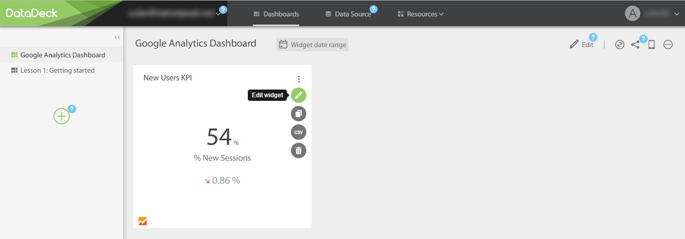 Первый дашборд в DataDeck