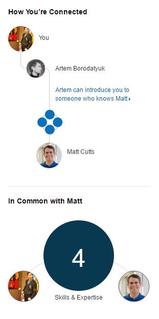 Поиски нужных людей начинаются опять же в LinkedIn