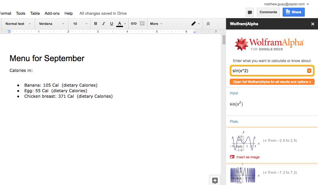 Поисковая сеть внутри Google Документов