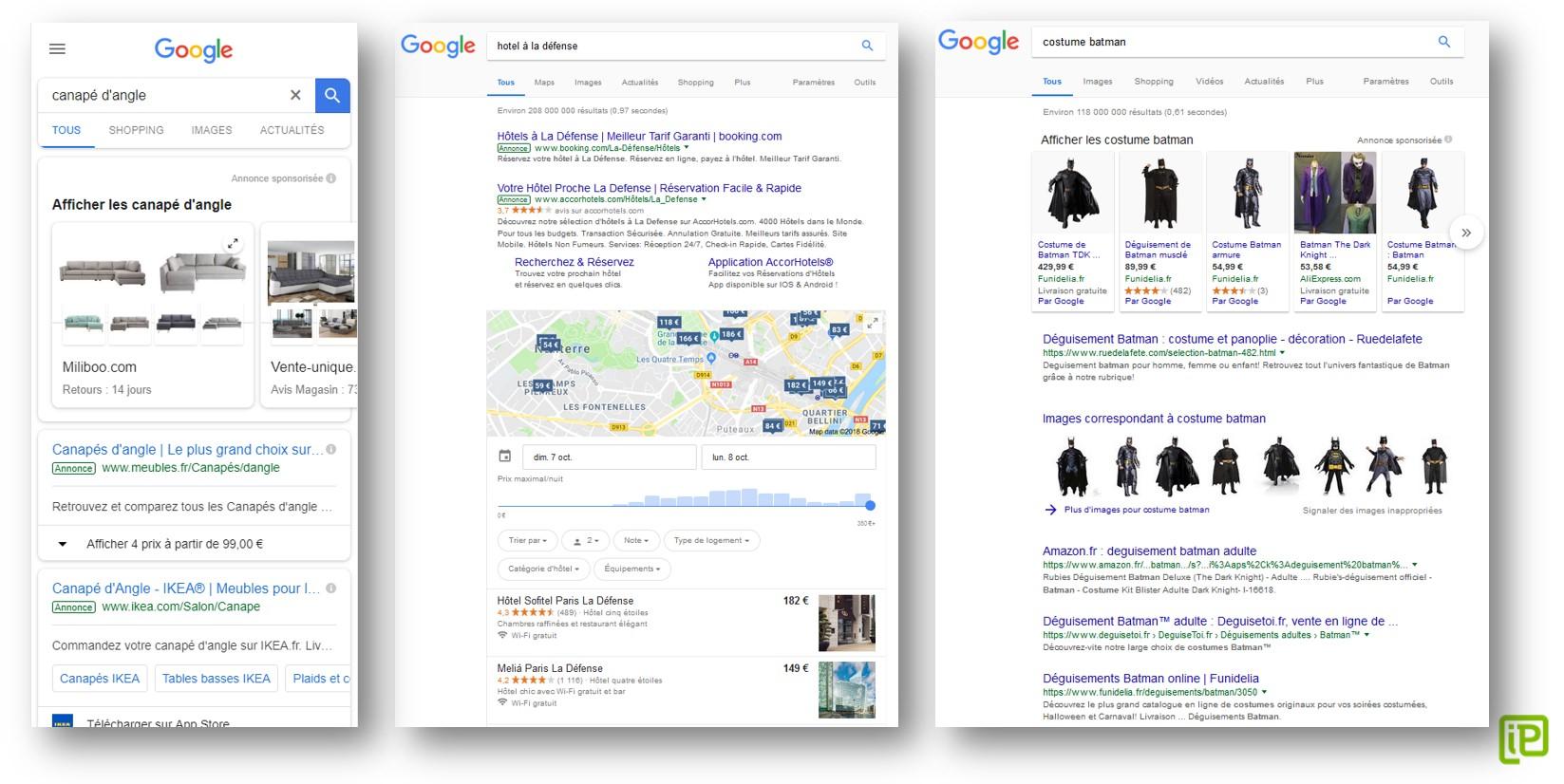 поисковая система не пренебрегает возможностью также извлечь максимум пользы, обильно разбавляя органические результаты собственными коммерческими сервисами