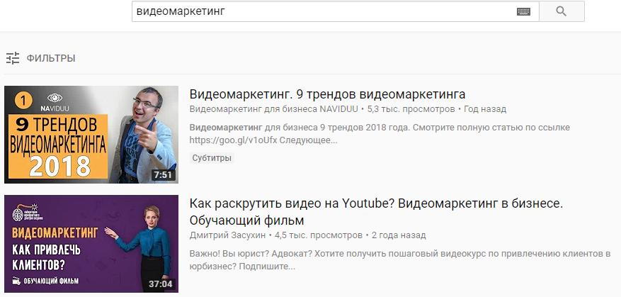 Пользователи ищут видео по ключевым словам