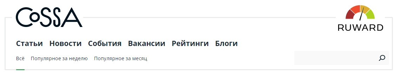 Пример Cossa, одного из самых популярных маркетинговых ресурсов в Рунете