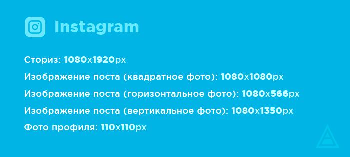 Размеры картинок для Instagram
