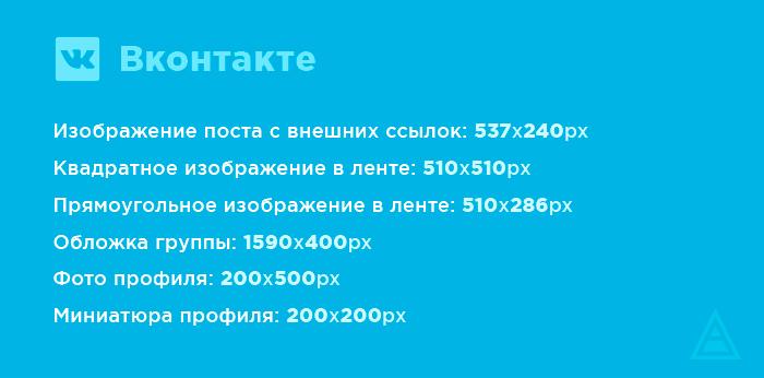 Размеры картинок для ВКонтакте