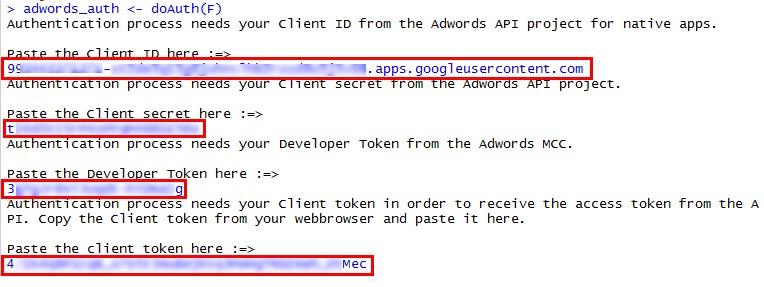 Разрешить доступ для просмотра данных Google AdWords