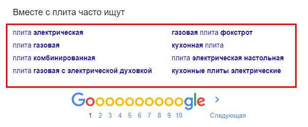 рекомендации поисковиков