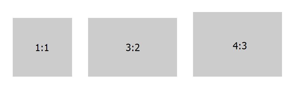 Самые часто используемые пропорции